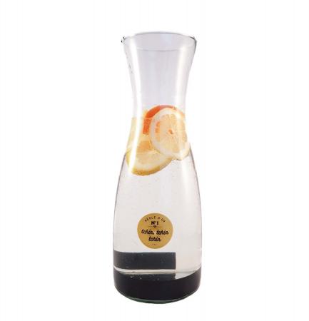 Carafa pentru Limonada sticla transparenta si negru ,1 Litru1