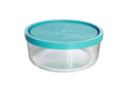 Caserola din sticla, capac din plastic, 1.25 Litri, Rotund [0]