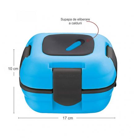 Caserola termica pentru alimente, 1 litru, Albastru1
