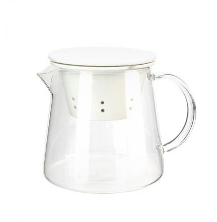 Ceainic din sticla, cu capac si infuzor din portelan, 650 ml1