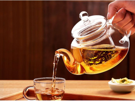 Ceainic din sticla, cu capac si infuzor din sticla, 800 ml [2]