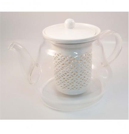 Ceainic din Sticla cu Infuzor si capac din Ceramica, 800 ml2