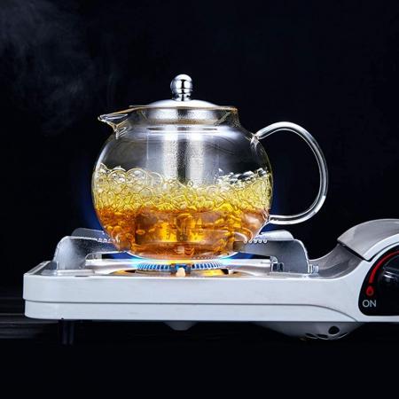 Ceainic din sticla Borosilicata  cu infuzor metalic, 950 ml4