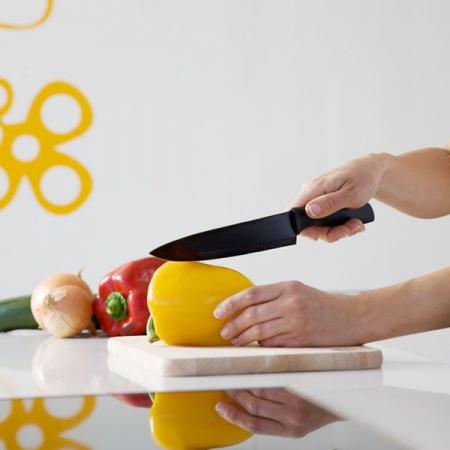 Set 6 Cutite profesionale din Titan si decojitor legume/fructe, CECOTEC1