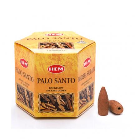 Conuri parfumate cu ardere inversa PALO SANTO pentru suport cascada - 40 buc [0]