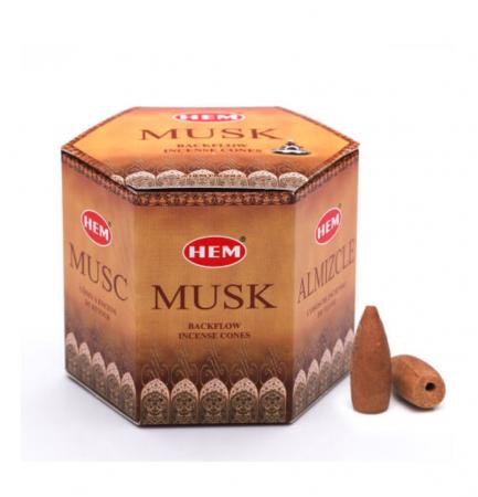 Conuri parfumate cu ardere inversa MUSK pentru suport cascada - 40 buc [0]