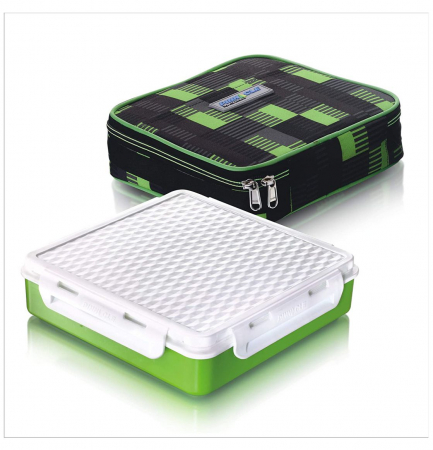 Cutie alimente Lunch Box 4 compartimente, Penta Go, Verde0