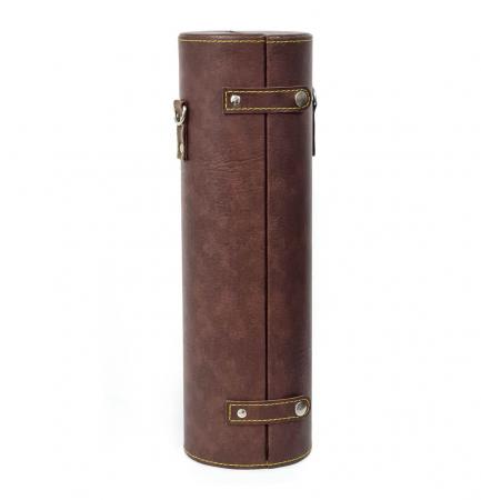 Cutie pentru Sticla de Vin cu 2 accesorii, piele ecologica, 36x11 CM, Maro1