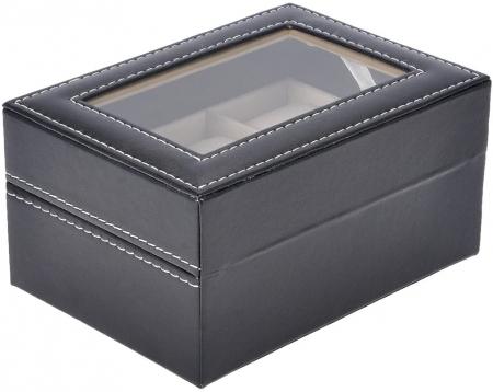 Cutie pentru 3 Ceasuri din piele ecologica 16x11x8 CM3