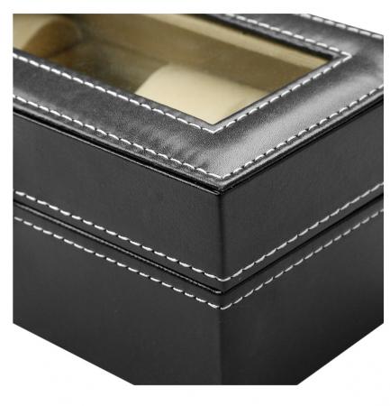 Cutie pentru 4 Ceasuri din piele ecologica 20x11x8 CM4