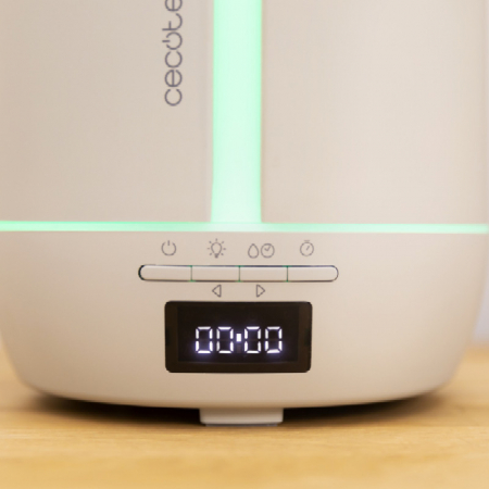 Difuzor aroma cu Ultrasunete Smart PureAroma 500 ml, control Smartphone, 7 culori LED, boxa incorporata - Gri [4]
