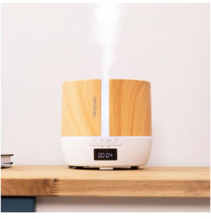 Difuzor aroma cu Ultrasunete Smart PureAroma 500 ml, control Smartphone, 7 culori LED, boxa incorporata - Stejar5