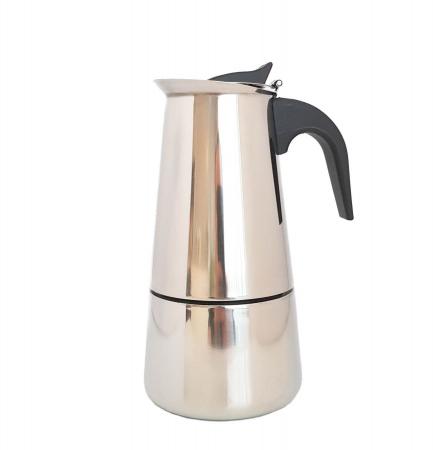 Espressor manual de cafea, INOX 6 CUPS, Grunberg
