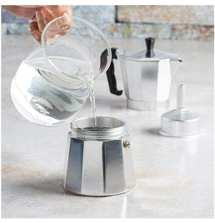 Espressor manual de cafea, 12 CUPS, Aluminiu1