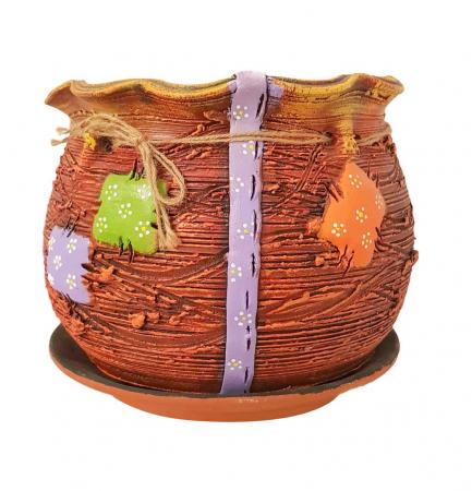Ghiveci Traditional din Ceramica realizat manual, 20 x 20 CM0
