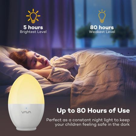 Lampa de Veghe Smart LED VAVA, lumina calda si rece, reglare Touch2