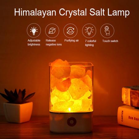 Lampa cu Sare de Himalaya, USB, Negru [1]