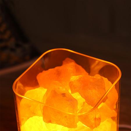 Lampa cu Sare de Himalaya, USB, Negru [2]