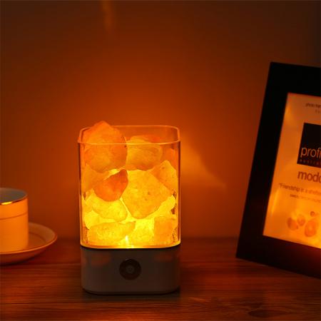 Lampa cu Sare de Himalaya, USB, Negru [4]