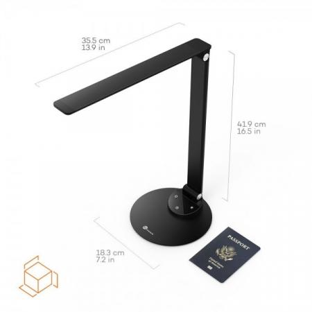 Lampa de birou LED TaoTronics, control Touch, 5 moduri de lumina, 9W, USB, Black2