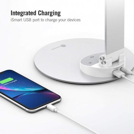 Lampa de birou LED TaoTronics, control Touch, 5 moduri de lumina, 9W, USB4