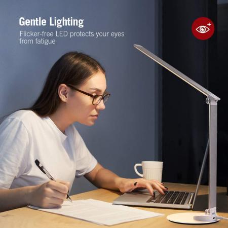 Lampa de birou LED TaoTronics, control Touch, 5 moduri de lumina, 9W, USB5
