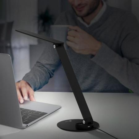 Lampa de birou LED TaoTronics, control Touch, 5 moduri de lumina, 9W, USB, Black0