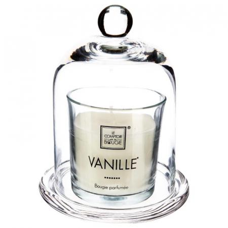 Lumanare parfumata cu clopot sticla VANILLE, 120 grame0