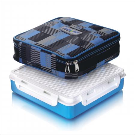 Cutie alimente Lunch Box 4 compartimente, Penta Go, Albastru0