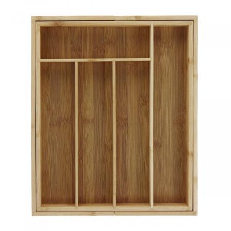 Organizator extensibil din Bambus pentru sertar, 28 x 33.5 cm0