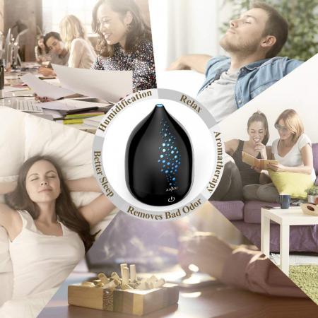 Pachet complet Aromaterapie, Difuzor cu ultrasunete si Set 6 uleiuri esentiale7