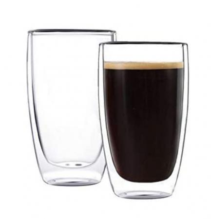 Set 2 Pahare 370 ml din sticla Borosilicata cu pereti dubli [0]