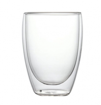Pahar din sticla Borosilicata cu pereti dubli, 350 ml [0]