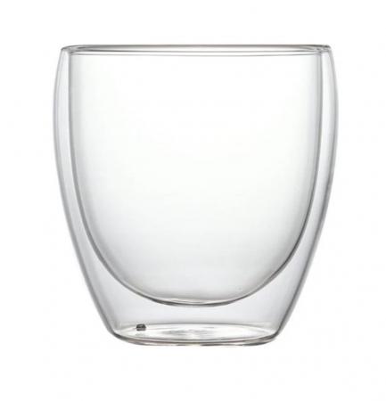 Pahar din sticla Borosilicata cu pereti dubli, 250 ml0
