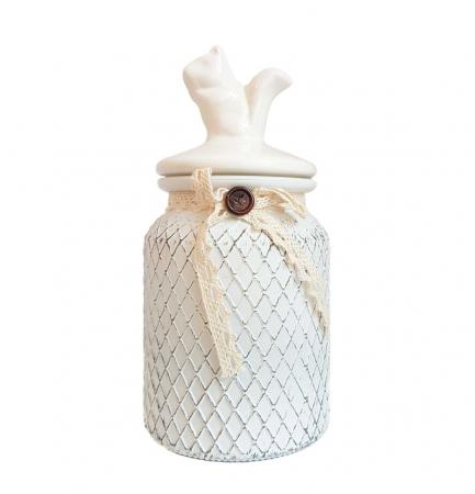 Set 3 recipiente depozitare Vintage, sticla si capac ceramica2