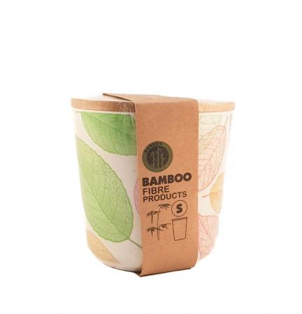 Set 3 recipiente pentru depozitare,Verde,din fibre de Bambus3