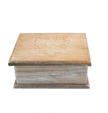 Set 2 cutii HEART din Lemn, pentru Bijuterii [2]