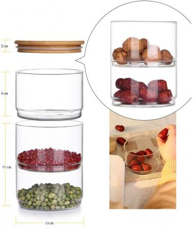 Set 4 Boluri Stivuibile din sticla Borosilicata [6]