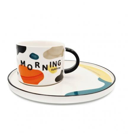 Set pentru Cafea si Ceai, Cana cu Platou, MORNING [0]