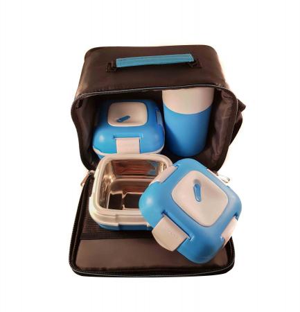 Set caserole PALOMA Albastru, pentru mancare, termoizolante1