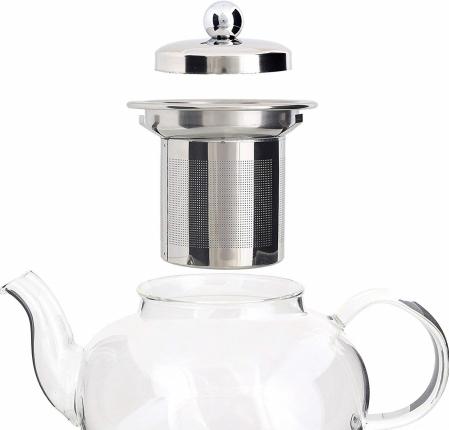 Set Ceainic si Ceasca din sticla termorezistenta, cu infuzor din Inox2