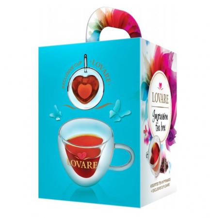 """Set Ceai """"Impression Box"""" piramide, 4*7*2g si 1 cana cadou1"""