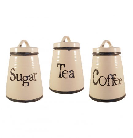 Set Ceramic COFFEE,SUGAR,TEA, 3 recipiente0