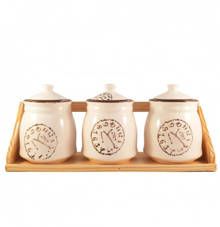 Set Clock din Ceramica, 3 Recipiente