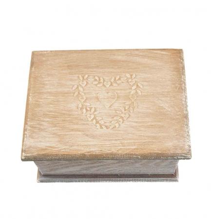 Set 2 cutii HEART din Lemn, pentru Bijuterii [1]