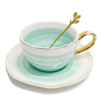 Set din Ceramica, Ceasca, Farfurie si Lingurita, LIFE [2]