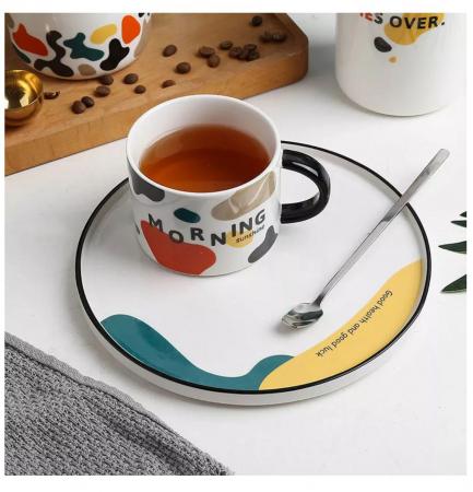 Set pentru Cafea si Ceai, Cana cu Platou, MORNING [2]