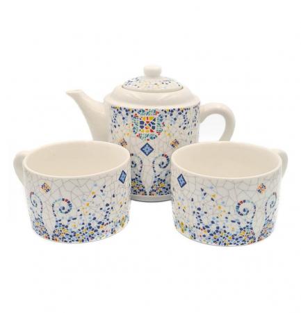 Set TEA FOR TWO Ceainic cu infuzor si 2 cesti, GAUDI0