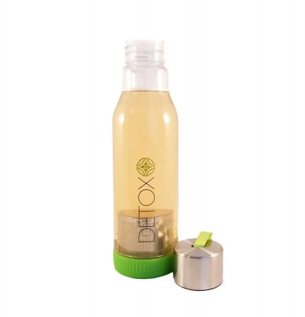 Sticla Detox 500 ml, cu infuzor metalic pentru ceai, Verde1