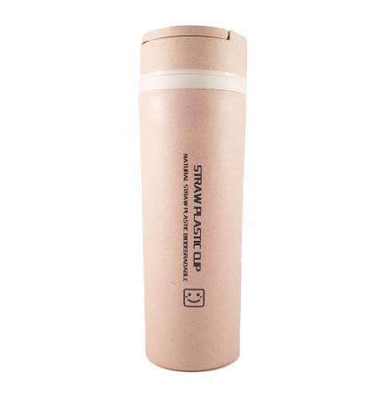 Sticla Termos ,protectie  Biodegradabila, Mov, 330 ml0